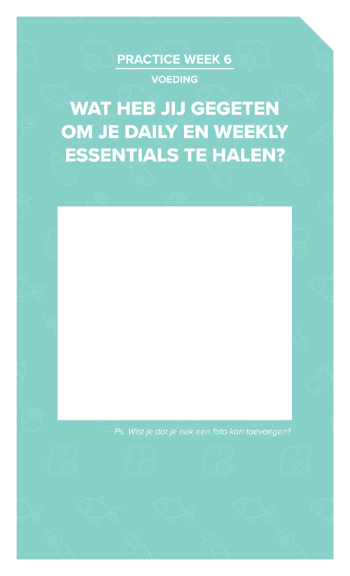 Worksheet Daily en Weekly Essentials